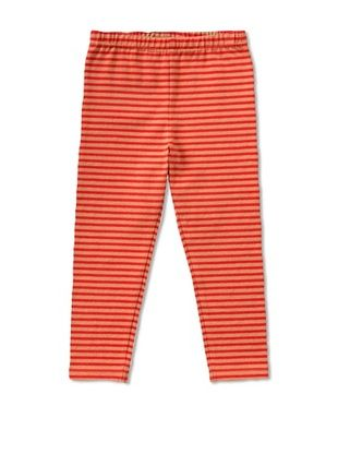 71% OFF Room 7 Girl's 2-6X Tommy Legging (Red/Brown Stripe)