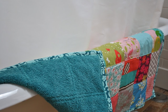 Quilted Bathmats! with towel backing