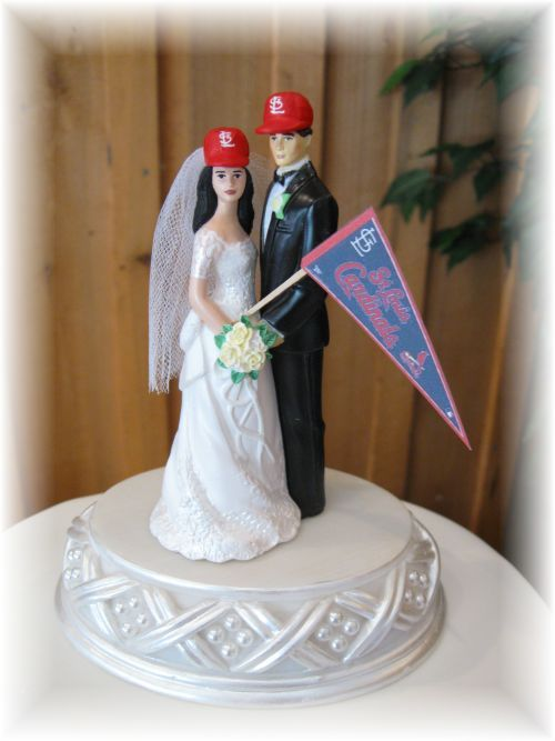 saint louis cardinals cake topper