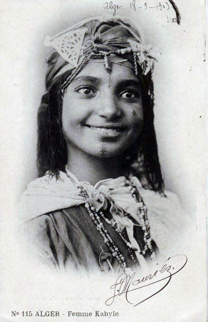 Africa | Kabyle woman, Algeria. ca. 1903 | Postcard image, published by Arnold Vollenweider