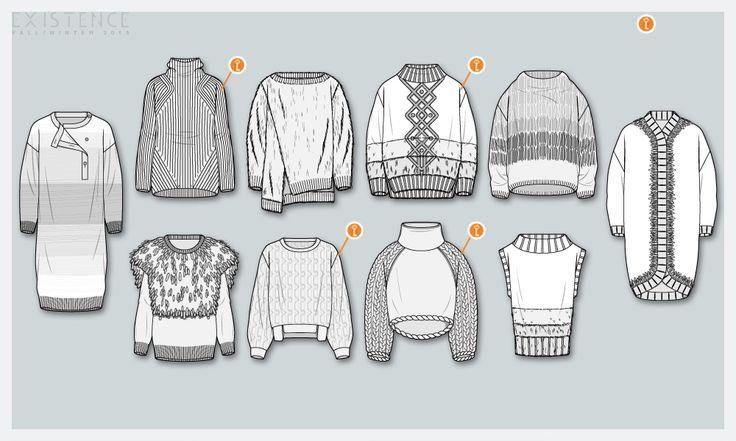 F/W '15 knitwear shapes