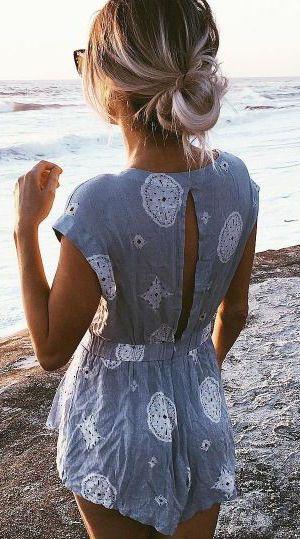 #summer #fashion / playsuit