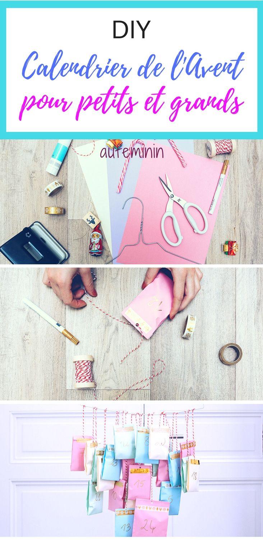 Pour glisser un petit présent, un objet clin d'oeil, une gourmandise ou un mini jouet chaque jour jusqu'à Noël, réalisez ce calendrier de l'Avent simple et joli, avec des pochettes en papier. On vous explique comment sur aufeminin. //// #ElleHabiteLa #calendrier #avent #diy #enfant #cadeaux #bricolage #noel #tutorial #aufeminin #Marmiton