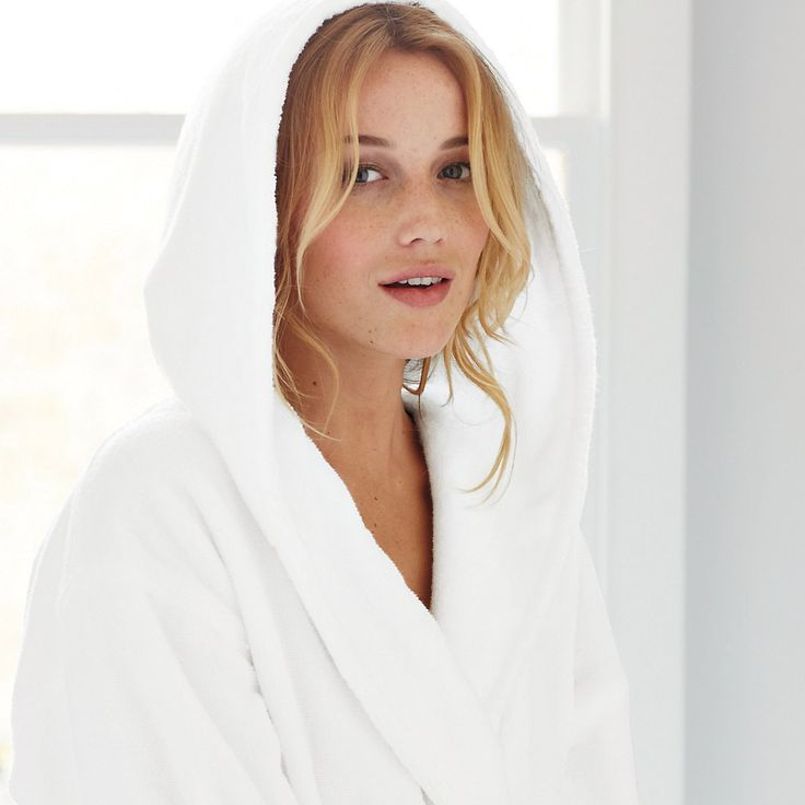 Hooded Hydrocotton Robe - White | The White Company, use code AD889 and gift voucher