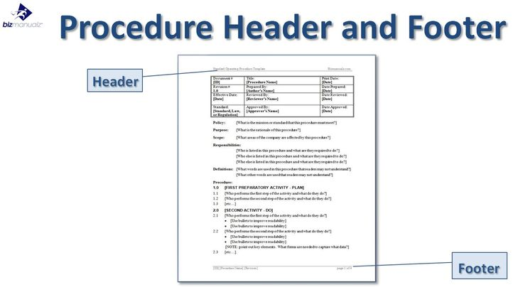 Microsoft Word Standard Operating Procedure Template Project