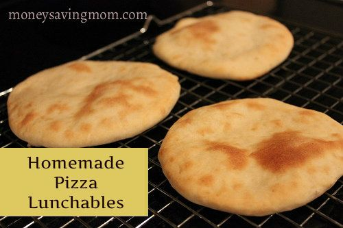 Homemade Pizza Lunchables: Freeze in airtight containers and you are all set!
