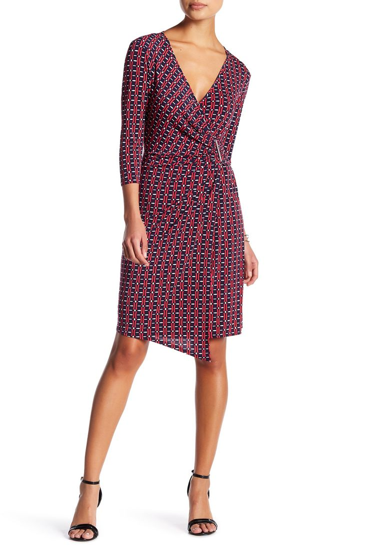 Geo Wrap Dress (Petite) by Laundry By Shelli Segal on @nordstrom_rack
