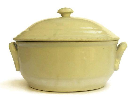 Antique Stoneware Soup Tureen. Rustic French by LeBonheurDuJour