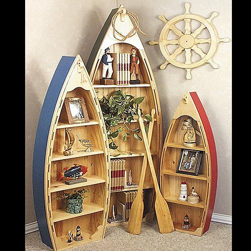 21 Amazing Shelf Rack Ideas For Your Home: Boat Shelf, Log Cabin House