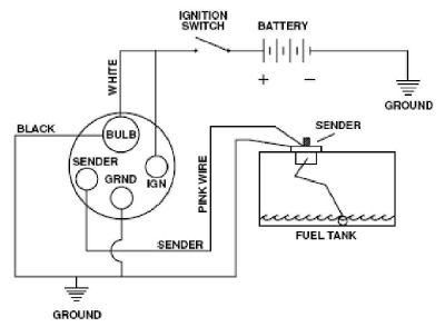 Fuel Gauge wiring diagram Trailer wiring diagram, Fuel