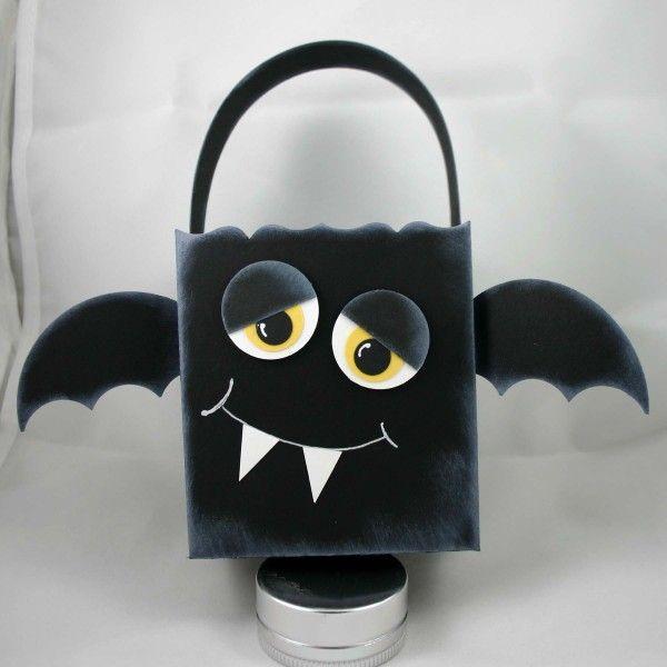 Stampin' Up!  Fancy Favor Box  Dana Newsom Halloween Bat