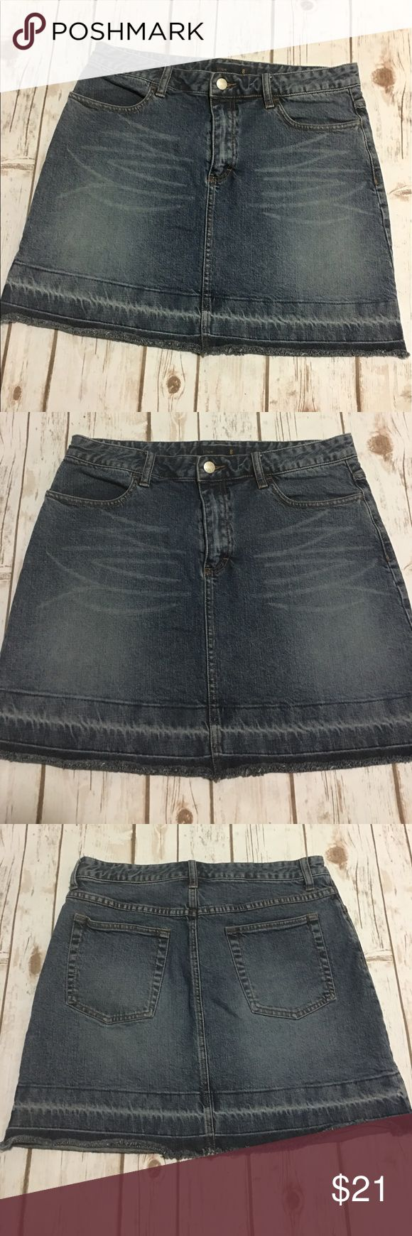 J. Crew - Gorgeous Versatile Denim Skirt J. Crew - Gorgeous Versatile Denim Skirt, women's size 8. In fantastic preowned condition. Please be sure to check out all of my other boutique items to bundle and save. Same day or next business day shipping is guaranteed. Reasonable offers will be considered! J. Crew Skirts Mini