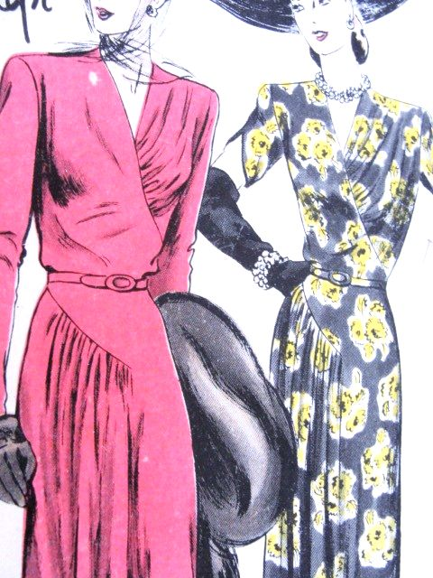 1940s FILM NOIR Style Cocktail Dinner Party Dress Pattern VOGUE SPECIAL DESIGN…