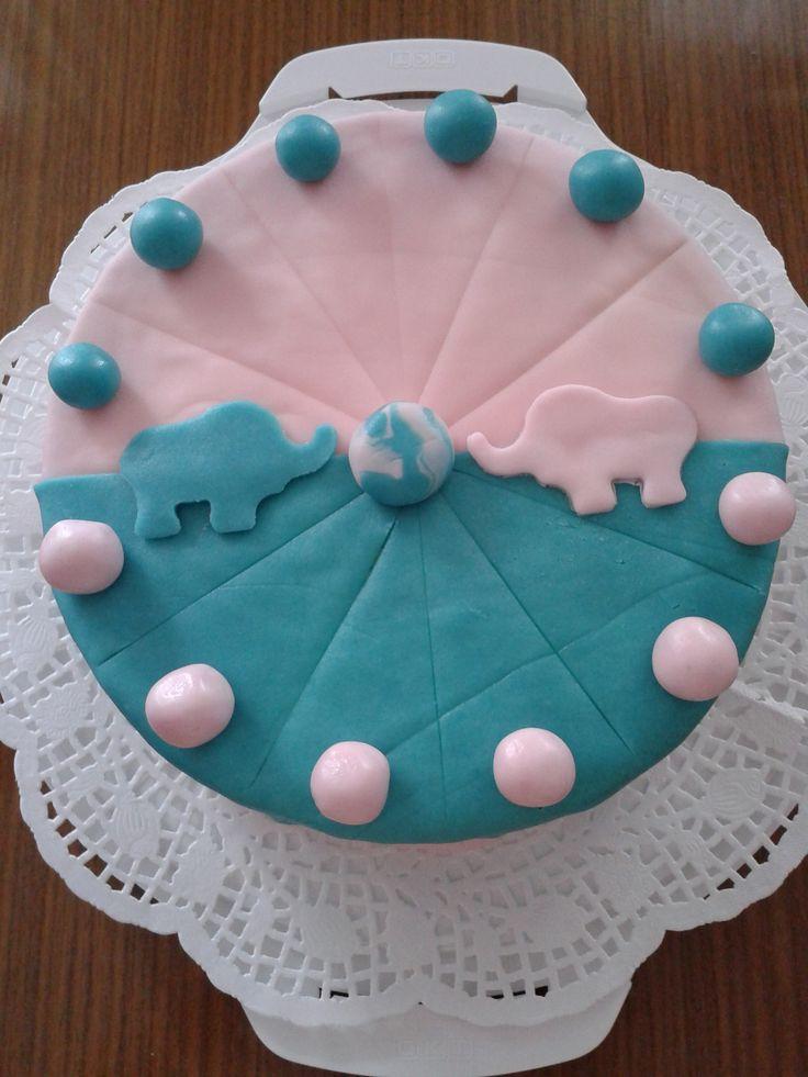tort dla dwojga z masą marcepanową