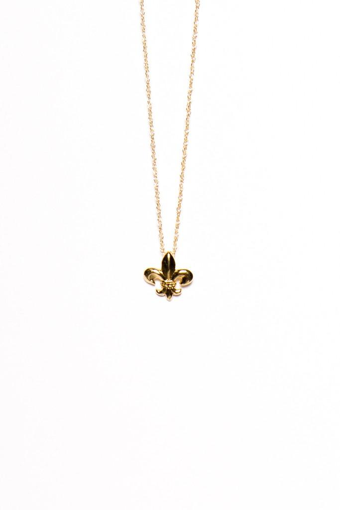 Fleur De Lys Charm Necklace by Viv