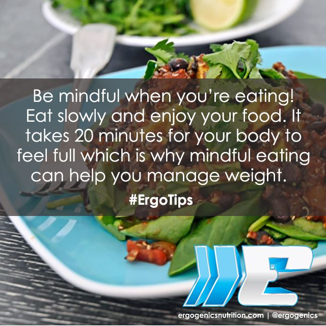 Mindful eating can help you manage weight! #ErgoTips #healthtip #nutrition