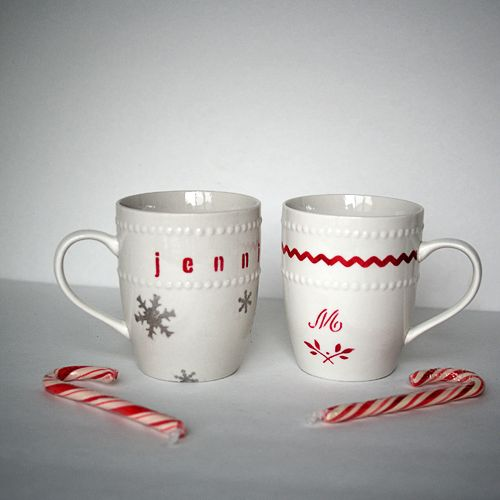 105 best DIY Christmas mugs images on Pinterest | Painted wine ...