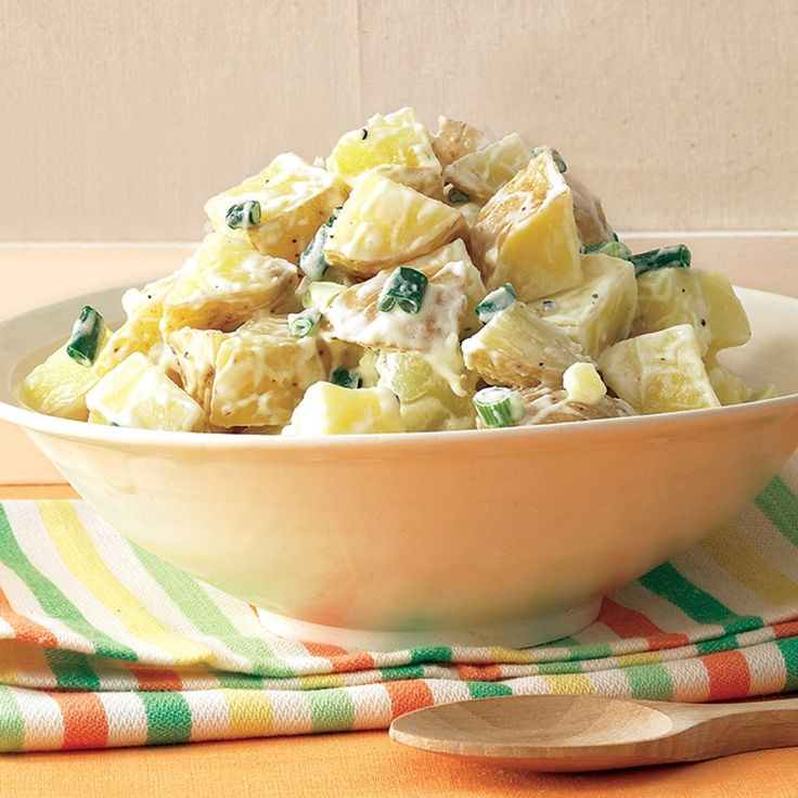 Combining the potatoes with the vinegar mixture while they're still hot allows them to absorb it all for a more flavorful salad. Learn more tips for perfecting your potato salad: How-to with Allie.