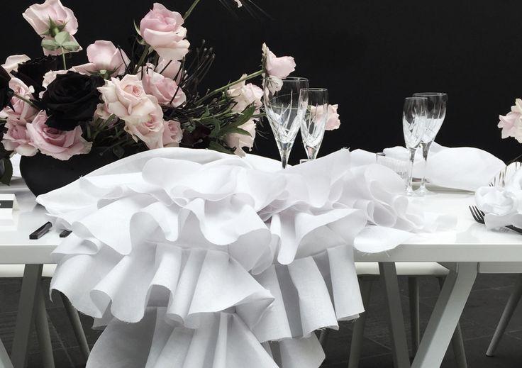 Gloss Creative | Viktor & Rolf Fashion Artists Launch Event #glosscreative #viktorandrolf #creativedirection #tablestyling #dinner #setdesign #event