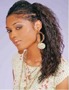 Twisties Hairstyles senegalese flat twists hairstyles Crinkle Ponytail With Twisties