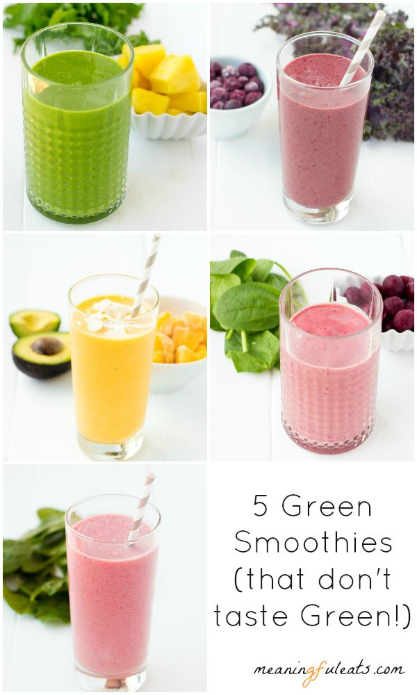 Green Smoothie Week: Mixed Berry Mango Kale Smoothie | Meaningful Eats