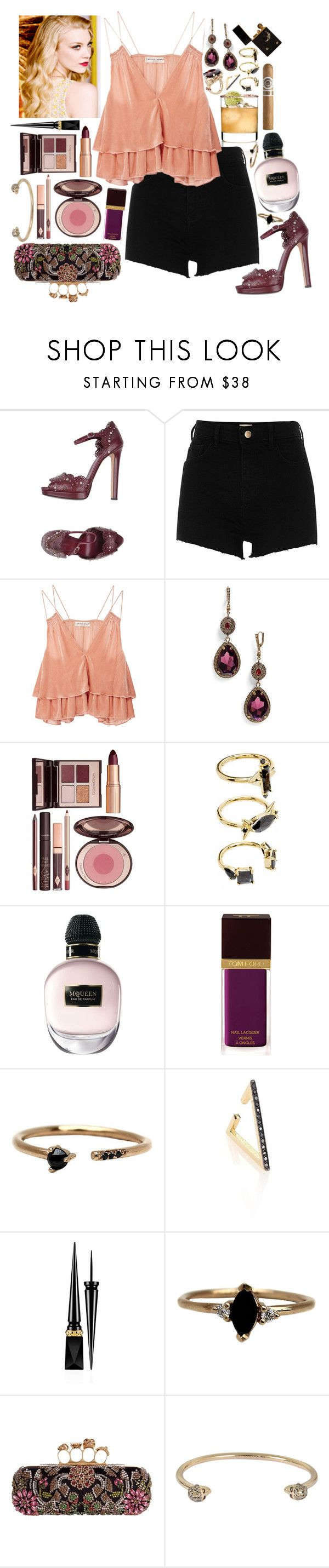 """Woman - Kesha ft.The Dap-Kings Horns"" by leo8august ❤ liked on Polyvore featuring Alexander McQueen, River Island, Apiece Apart, Charlotte Tilbury, Noir Jewelry, Tom Ford, LUMO, ZoÃ« Chicco and Christian Louboutin"