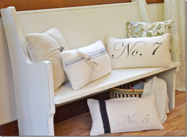 DIY::Flour Sack Pillows