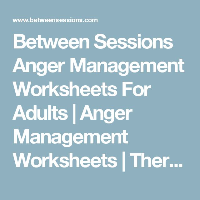 Free anger management worksheets for adults