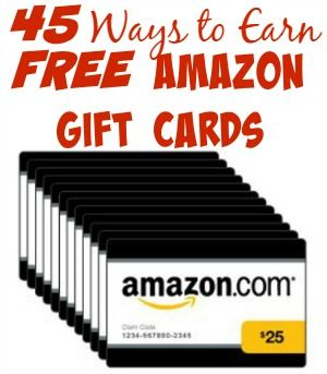 Ways to earn free amazon gift cards