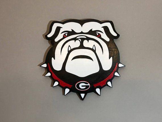 Georgia Bulldogs Uga 3d Hand Scrolled Wood Logo Wall Art Birthday Father S Day Alumni Boyfriend Husband Sports Fan Georgia Dawgs Georgia Bulldogs Bulldog