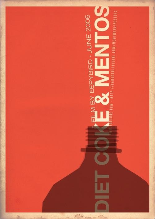 Internet meme poster imagined - diet coke and mentos