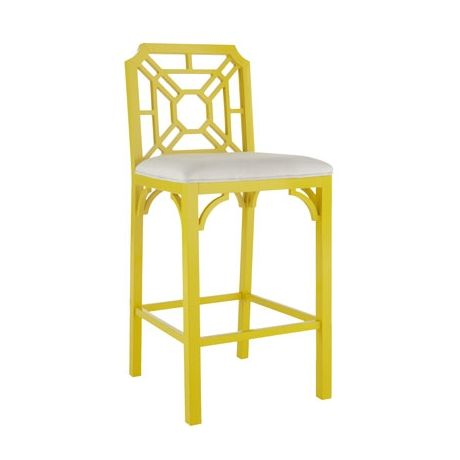 Lilly Pulitzer Home Yellow Barstools For The Home Palm