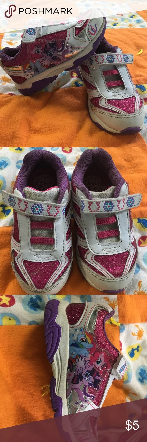 Girls my pony light shoes size 8m Girls my pony light shoes size 8m. Good used condition but no rip . My Little Pony Shoes Sneakers