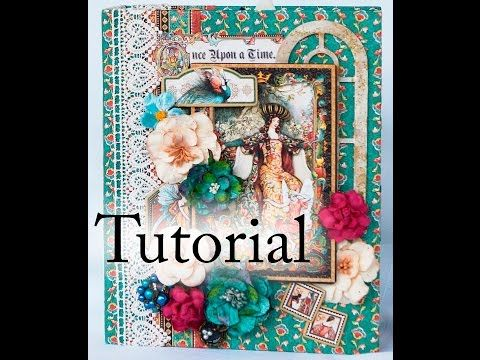 How to make Graphic 45 Home Sweet Home Mini album Tutorial -Terry's Scrapbooks - YouTube