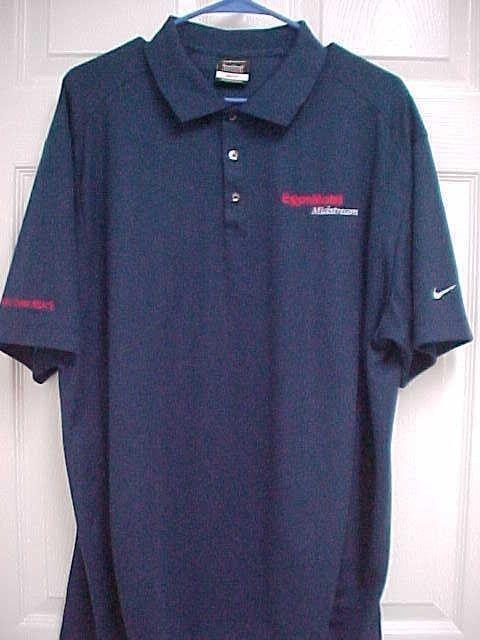 c2f5a705 EXXON MOBIL Midstream Men Navy Blue Short Sleeve Dri Fit Polo Shirt XL Nike  Golf #Nike #PoloRugby