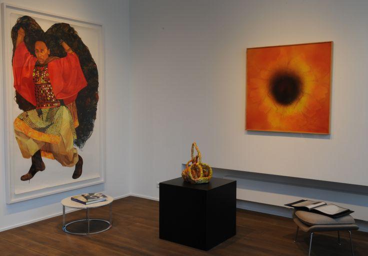 Mequitta Ahuja - Ambush - 2007; Sterling Ruby - Ceramic  (Yellow/Red/Facial) - 2006; José Maria Sicilia - NC 10.019 - 2010