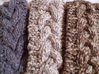 free pattern for a knitted cable headband live in art