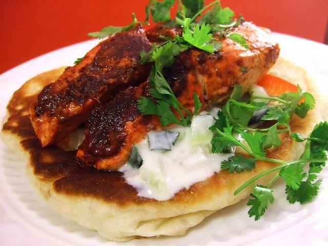 Salmon Tikka and Cucumber Yogurt | Food and Recipes | Pinterest