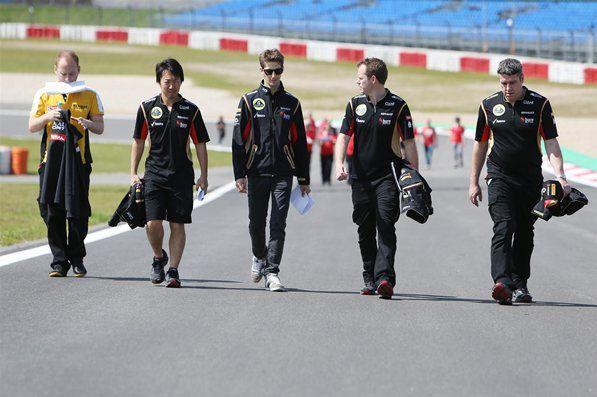 Romain Grosjen Lotus F1 Team