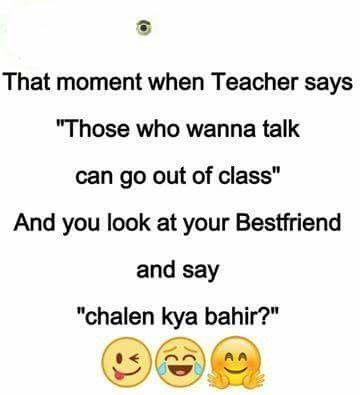Haaa Haa Sahi Zari Funny Funny Quotes School Jokes
