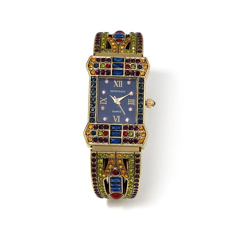 "Heidi Daus ""Sparkling Opulence"" Crystal-Accented Cuff Watch"