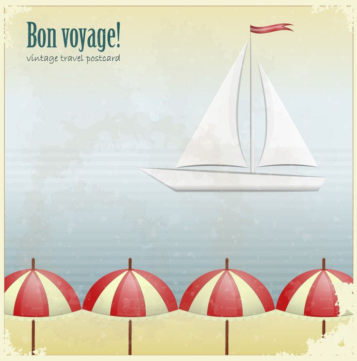 Bon Voyage! Vintage Travel Postcard | Books Worth Reading ...