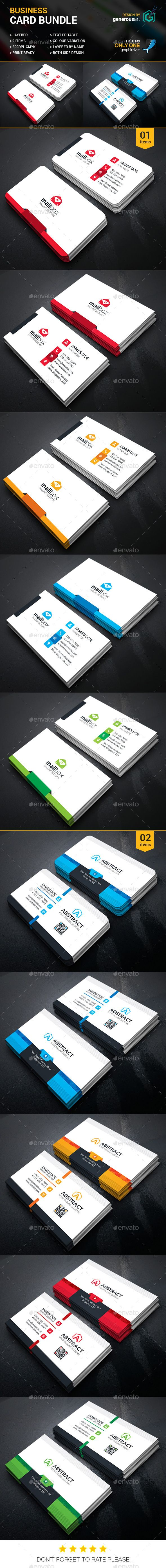 34 best business cards images on pinterest business card design business card bundle 2 in by generousart i included those cards as a items file information print dimensionwith bleed trim mark illustrator eps reheart Choice Image
