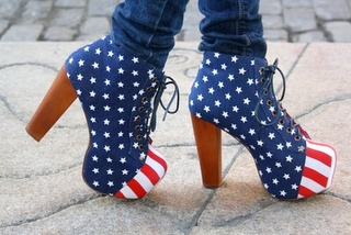 USA shoes!: American Flags, Style, Red White Blue, Stars, 4Th Of July, Jeffrey Campbell, The Mode, Heels, Independence Day