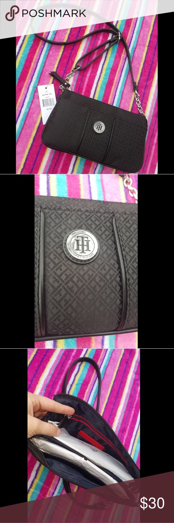 Crossbody Got as a Christmas gift and won't be used. It's 9inches  long and 5.5inches deep!! Perfect for girls night out❤ Tommy Hilfiger Bags Crossbody Bags