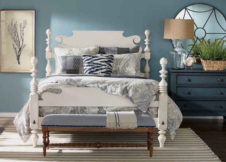 Create A Coastal Retreat With Our Beautiful Shore Accents And Colors. # EthanAllen #EthanAllenBellevue
