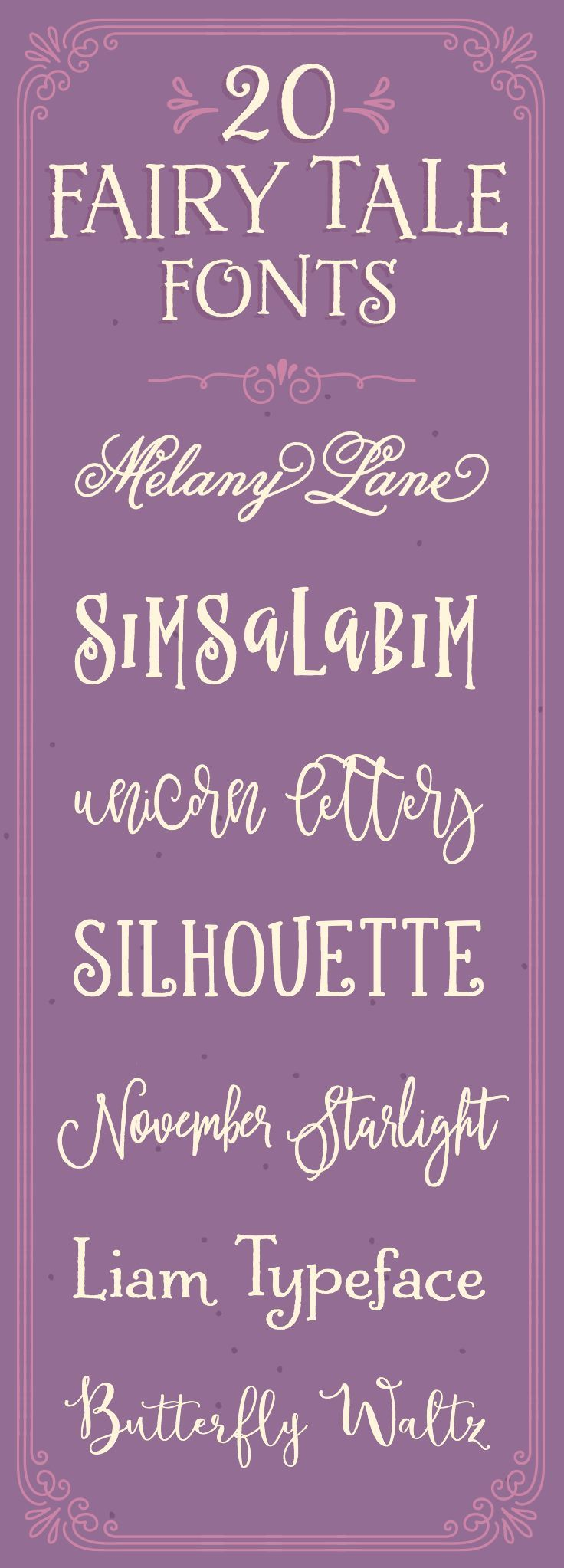 20 Whimsical Fonts That Look Like They're Straight Out of a Fairy Tale ~ Creative Market Blog