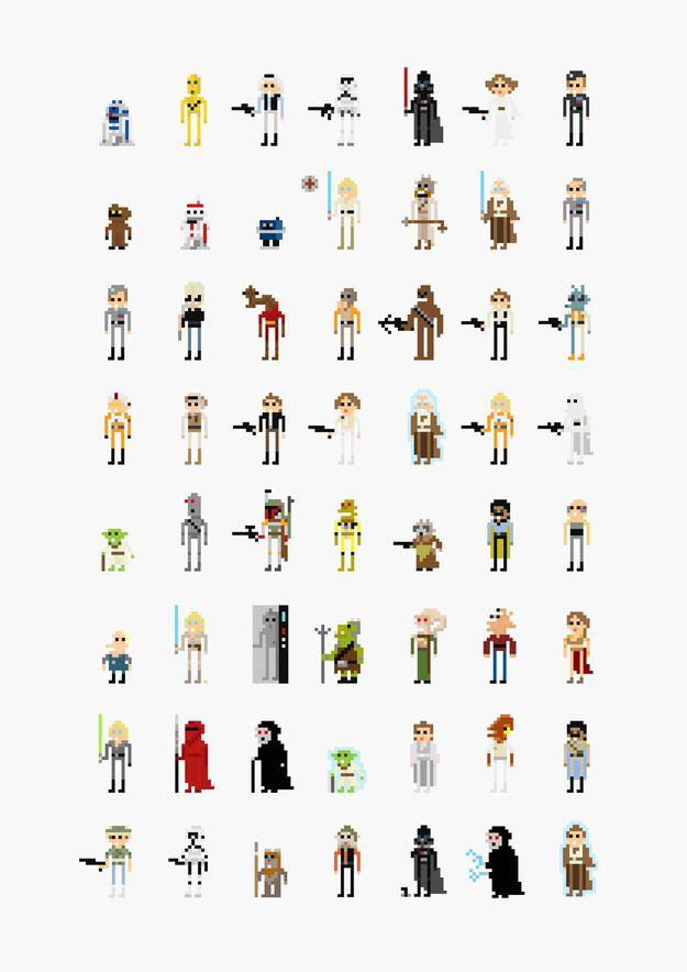 Star Wars in 8-bit by Fitz Fitzpatrick