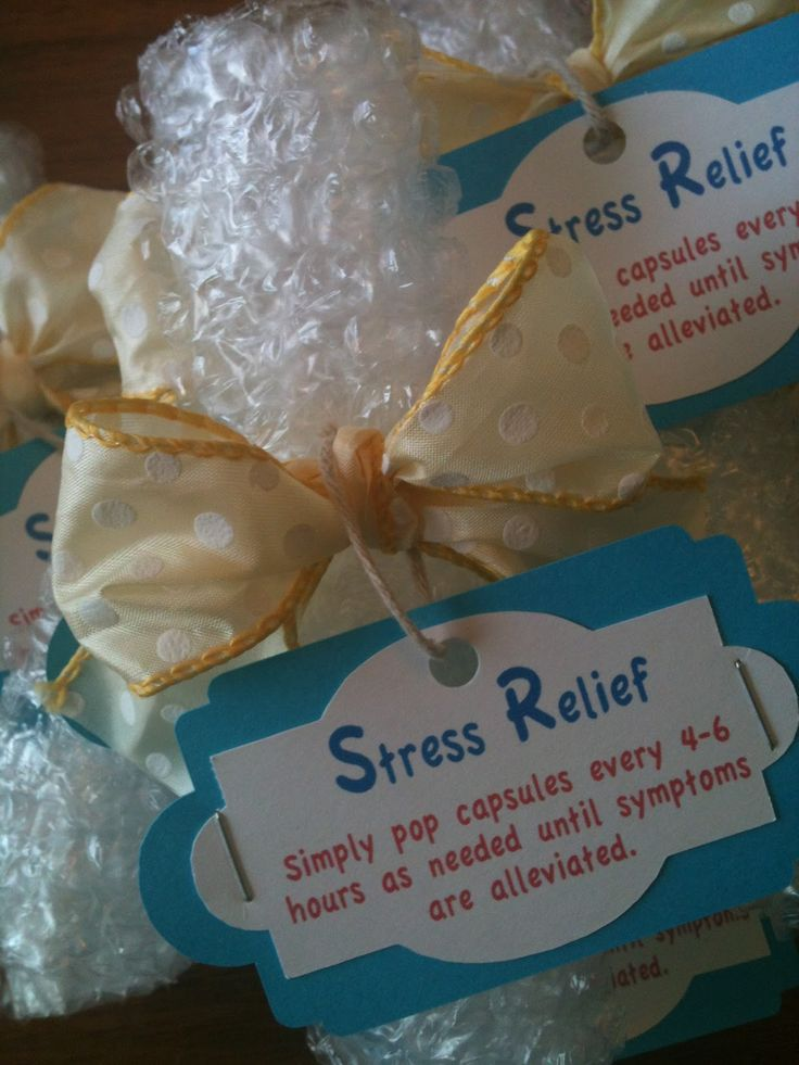 A cute and easy gift to relieve stress.