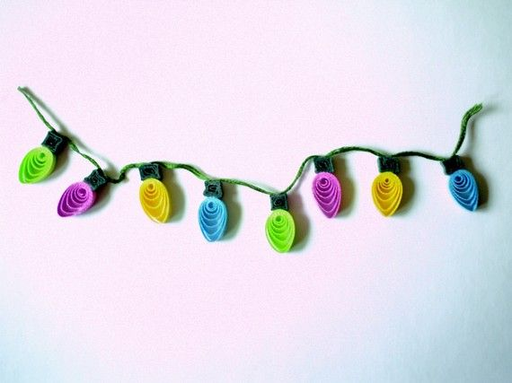 QUILLING Cute Mini String of Christmas Tree by BlissfullyQuilling